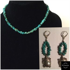 Jewelry - Silver and Turquoise Turtle Earrings